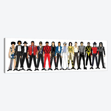 Michael Jackson Line-Up Canvas Print #NOT27} by Notsniw Art Art Print