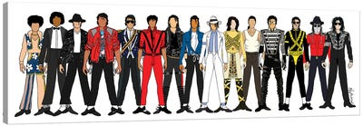 Michael Jackson Line-Up Canvas Art Print