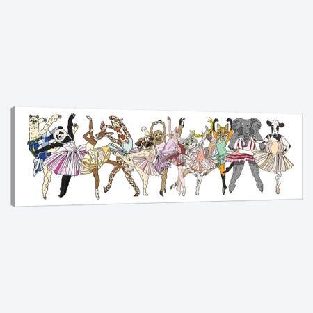 Animal Hipster Ballerinas Canvas Print #NOT3} by Notsniw Art Canvas Art