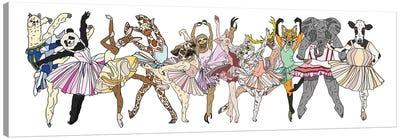 Animal Hipster Ballerinas Canvas Art Print