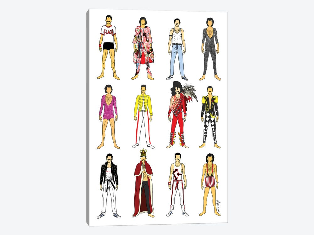 The Many Outfits Of Freddie by Notsniw Art 1-piece Canvas Wall Art