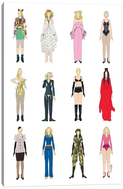 The Many Outfits Of Madge Canvas Art Print