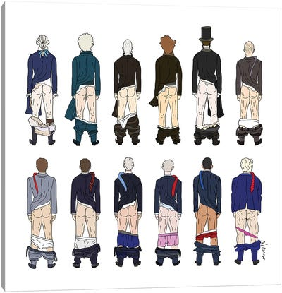 Presidential Butts Canvas Art Print