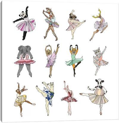 Animal Square Dance Canvas Art Print