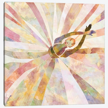 Sleeping Ballerina Canvas Print #NOT52} by Notsniw Art Canvas Print