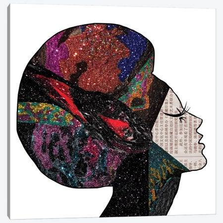 Space Hair Canvas Print #NOT53} by Notsniw Art Canvas Print