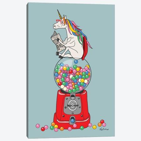 Unicorn Gumball Poop Canvas Print #NOT56} by Notsniw Art Canvas Wall Art