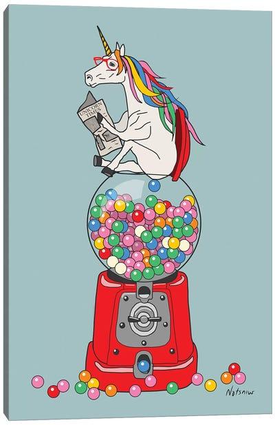 Unicorn Gumball Poop Canvas Art Print