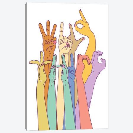 Wild Thing Hand Alphabet Illustration Canvas Print #NOT61} by Notsniw Art Canvas Art
