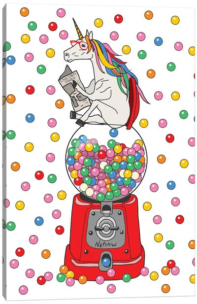 Unicorn Poop Gumballs Canvas Art Print