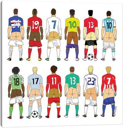 Soccer Butts Canvas Art Print