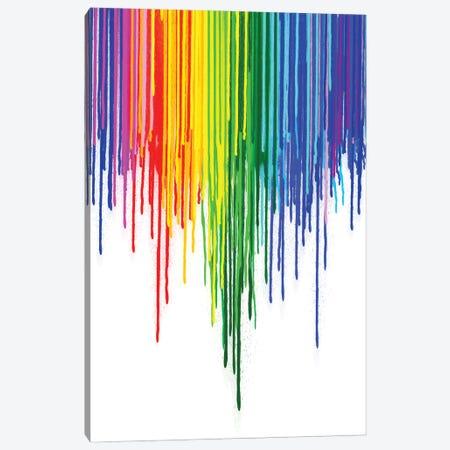 Rainbow Gay Pride Canvas Print #NOT72} by Notsniw Art Canvas Art Print