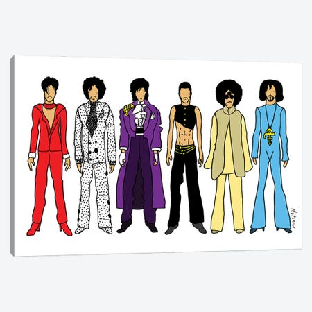 Prince Canvas Print #NOT74} by Notsniw Art Canvas Art
