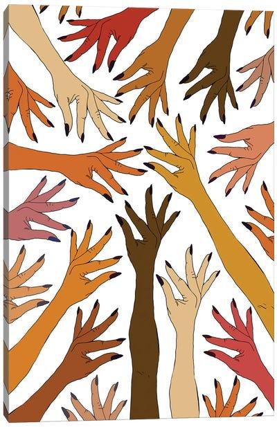 Strength Pride Love Hands Canvas Art Print