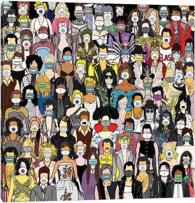 Party Face Masks Canvas Art Print