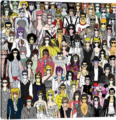 Mardi Gras Sunglasses Canvas Art Print