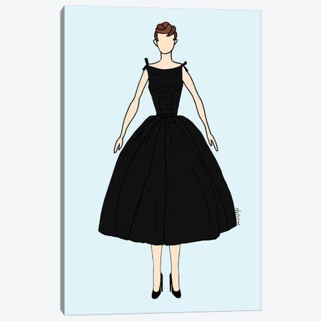 Audrey Fashion I Canvas Print #NOT7} by Notsniw Art Art Print