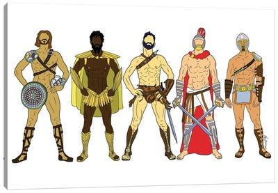 Game Of Thrones Gladiator Warriors Canvas Art Print