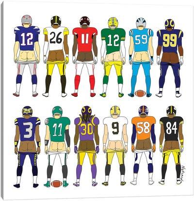 Football Butts Canvas Art Print