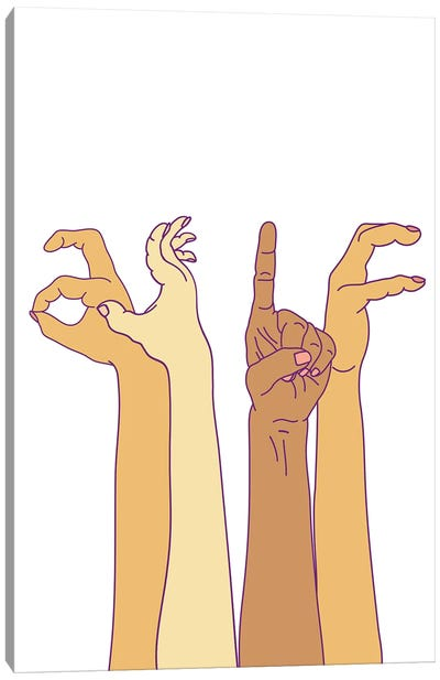 As If Hand Signs Canvas Art Print