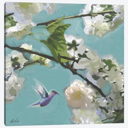 Hummingbird Florals II Canvas Print #NOV10} by Rick Novak Canvas Print