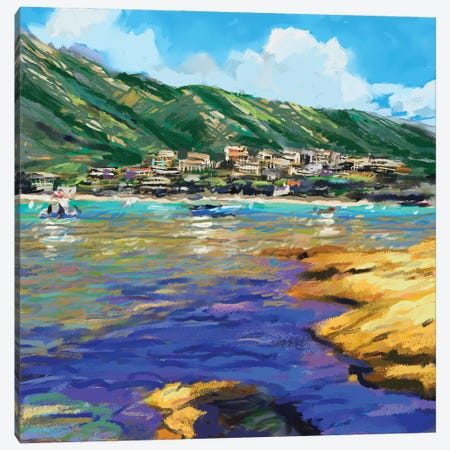 Seaside I Canvas Print #NOV12} by Rick Novak Canvas Art Print