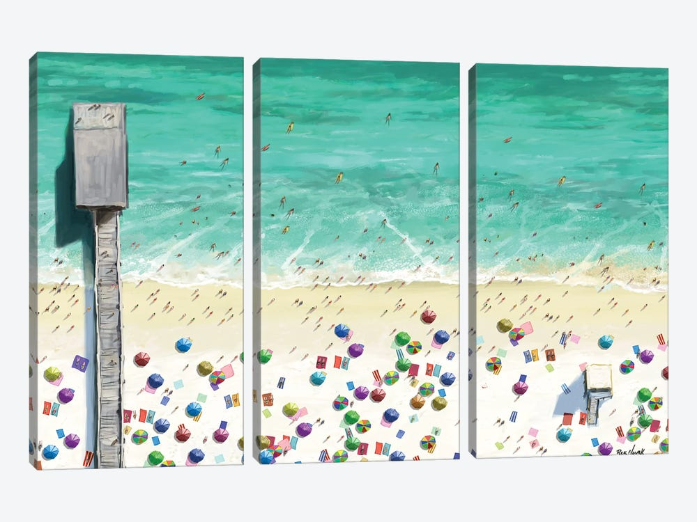Beaches I by Rick Novak 3-piece Canvas Art