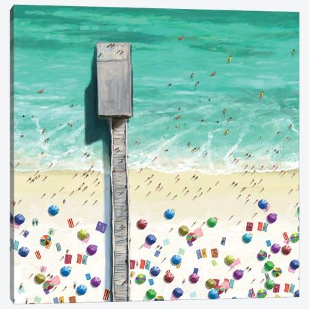 Beaches II Canvas Print #NOV15} by Rick Novak Canvas Wall Art