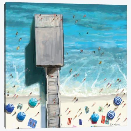 Beaches V Canvas Print #NOV18} by Rick Novak Art Print