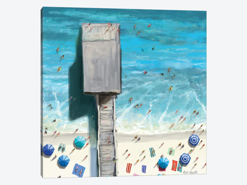 Beaches V by Rick Novak 1-piece Canvas Artwork