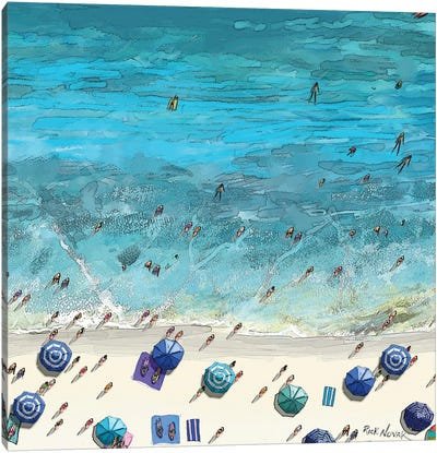 Beaches VI Canvas Art Print