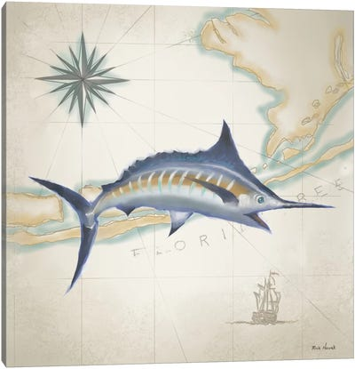 Sailfish Map I Canvas Art Print