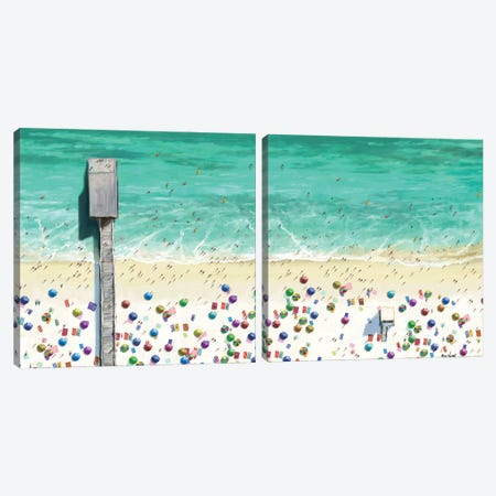 Beaches Diptych I Canvas Print Set #NOV2HSET001} by Rick Novak Canvas Art Print