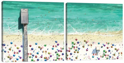 Beaches Diptych I Canvas Art Print