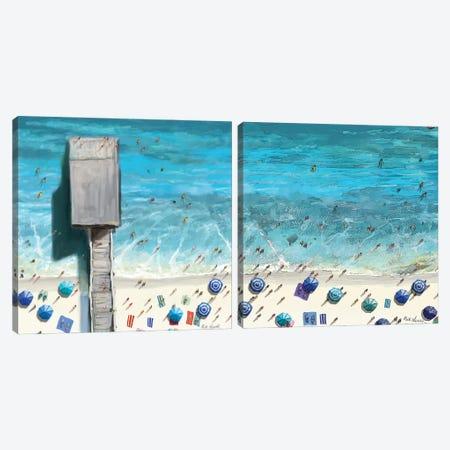 Beaches Diptych II Canvas Print Set #NOV2HSET002} by Rick Novak Canvas Art Print
