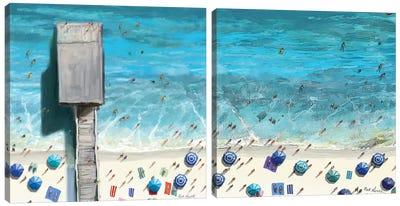 Beaches Diptych II Canvas Art Print