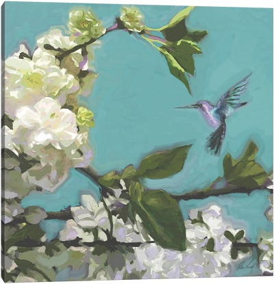Hummingbird Florals I Canvas Art Print