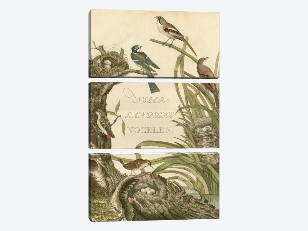 Sanctuary For Birds by Nozeman 3-piece Canvas Print