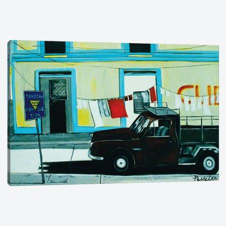 Cuban Corner Canvas Print #NPE10} by Nigel Perreira Art Print