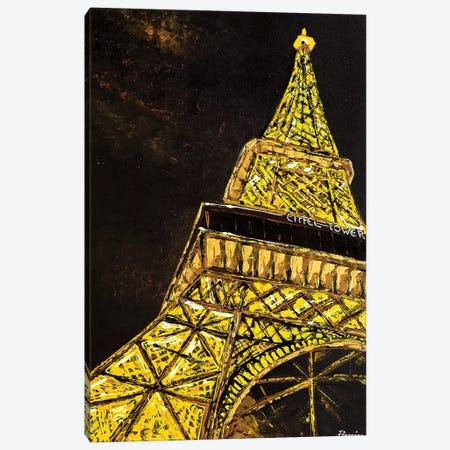 Eiffel Tower 3-Piece Canvas #NPE12} by Nigel Perreira Canvas Art Print