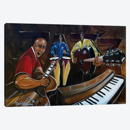 Jazz Band Canvas Print #NPE14} by Nigel Perreira Canvas Artwork