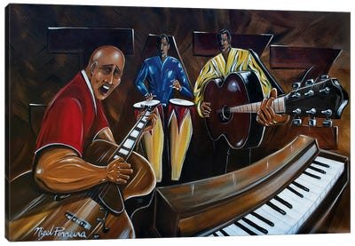 Jazz Band Canvas Art Print