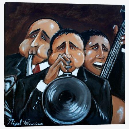 Jazz Trio Canvas Print #NPE15} by Nigel Perreira Canvas Artwork
