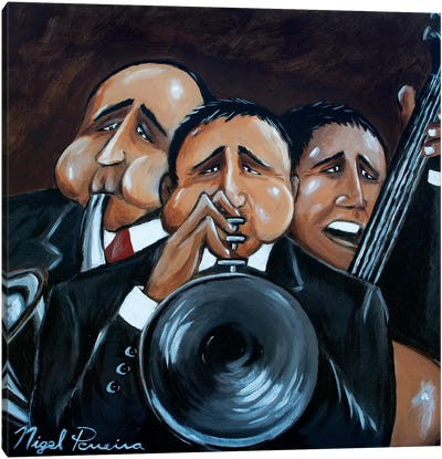 Jazz Trio Canvas Art Print