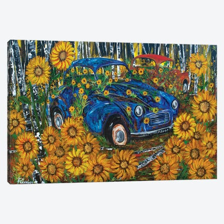 Morris Minor Canvas Print #NPE18} by Nigel Perreira Canvas Art Print