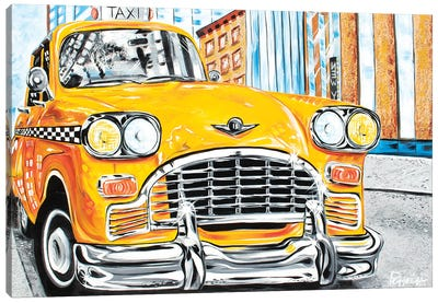 Mr. Cab Driver Canvas Art Print
