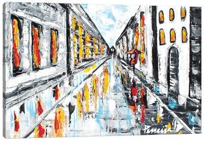 A Walk In The Rain Canvas Art Print