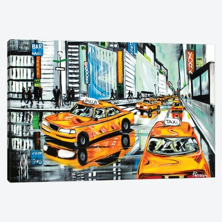 New York City Cabs Canvas Print #NPE20} by Nigel Perreira Canvas Art