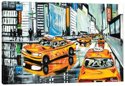 New York City Cabs Canvas Art Print