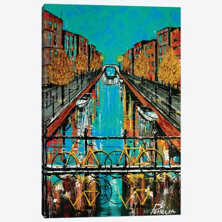 Colorful Canal Canvas Print #NPE8} by Nigel Perreira Canvas Print
